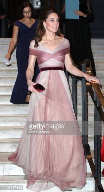 Catherine Duchess of Cambridge patron of 100 Women in Finance's Philanthropic Initiatives attends a Gala Dinner in aid of 'Mentally Healthy Schools'...
