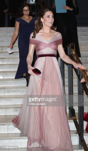 Catherine, Duchess of Cambridge, patron of 100 Women in Finance's Philanthropic Initiatives, attends a Gala Dinner in aid of 'Mentally Healthy...