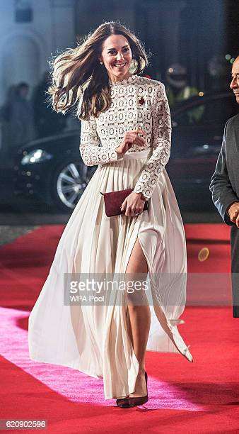Catherine Duchess of Cambridge Patron of Action on Addiction attends the UK Premiere of 'A Street Cat Named Bob' in aid of Action On Addiction on...