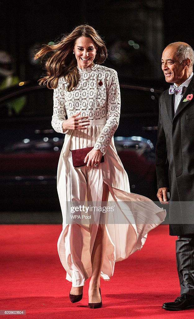 Catherine, Duchess of Cambridge, Patron of Action on Addiction, attends the UK Premiere of 'A Street Cat Named Bob' in aid of Action On Addiction on November 3, 2016 in London, United Kingdom.