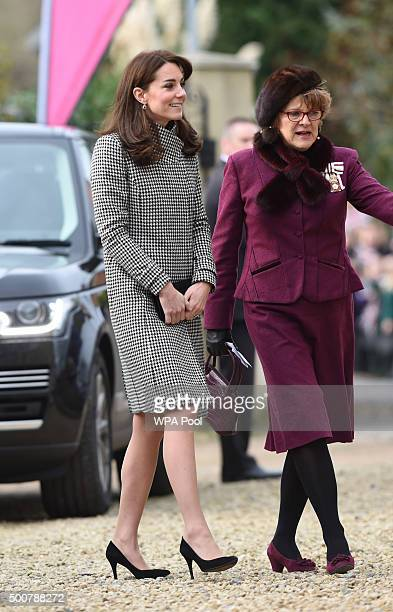 Catherine Duchess of Cambridge patron of 'Action on Addiction' visits the charity's Centre for Addiction Treatment Studies to see its work providing...