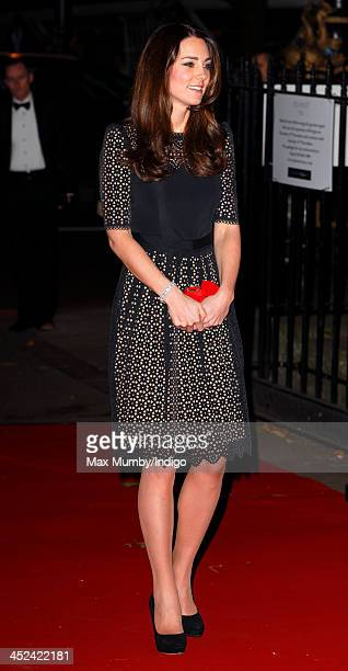 Catherine Duchess of Cambridge Patron of SportsAid attends the SportsBall the charity's annual gala dinner at Victoria Embankment Gardens on November...