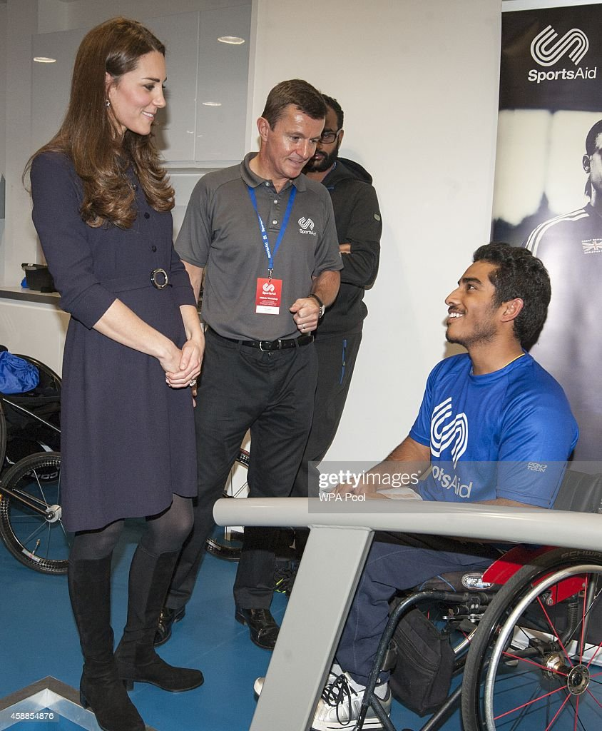 The Duchess Of Cambridge Attends A SportsAid Athelete Workshop : News Photo