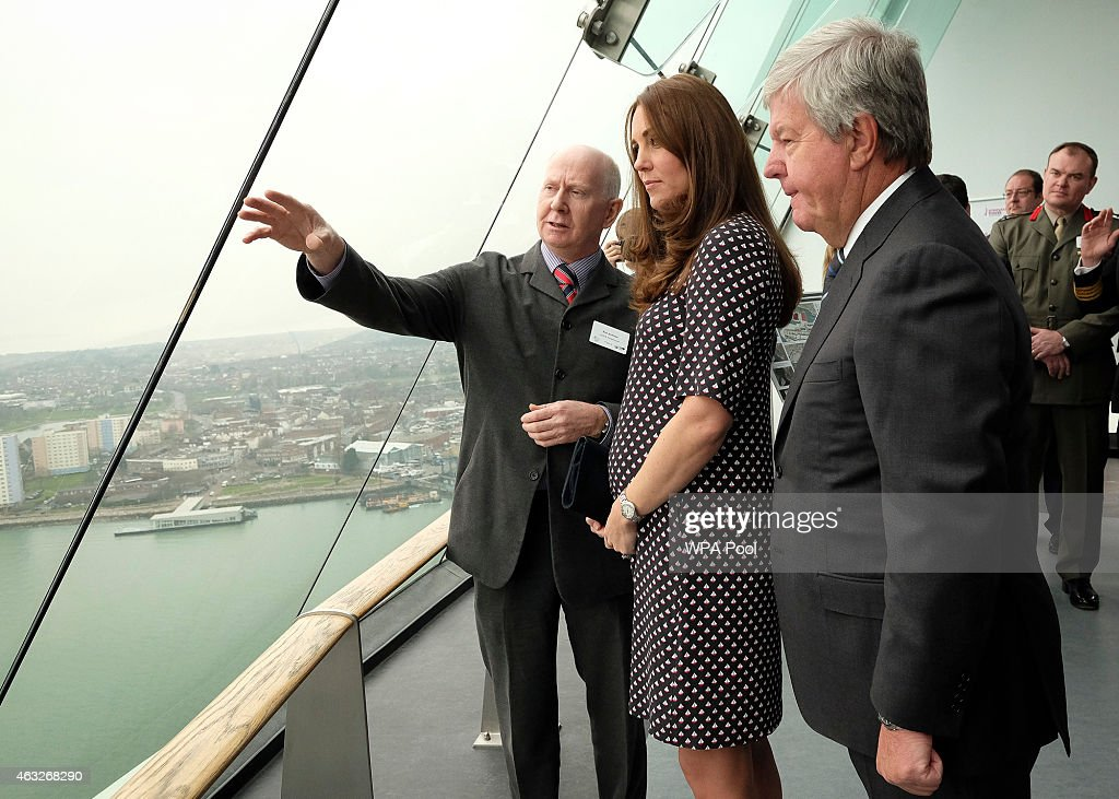 The Duchess Of Cambridge Visits Portsmouth : News Photo