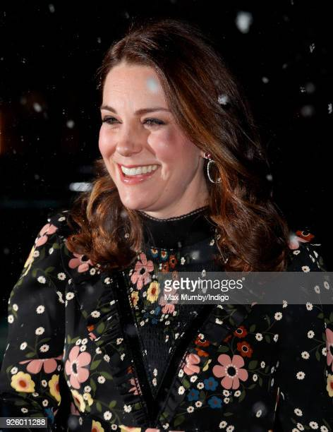 Catherine Duchess of Cambridge Patron of the National Portrait Gallery visits the 'Victorian Giants The Birth of Art Photography' exhibition at the...