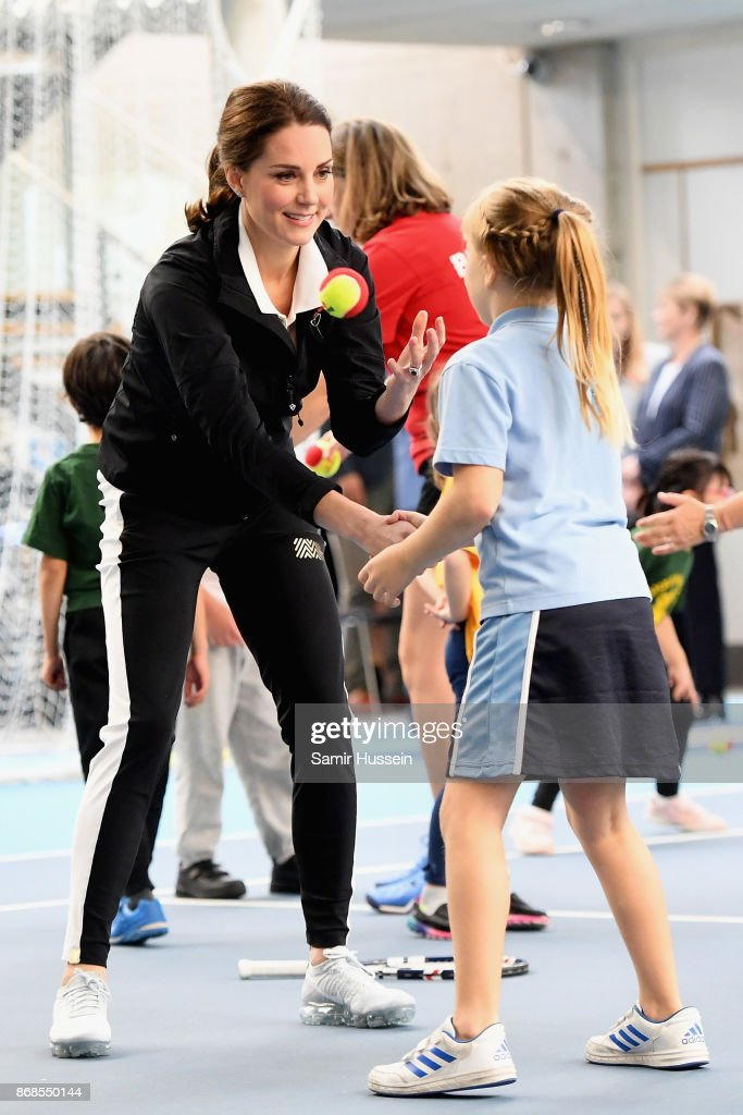 The Duchess Of Cambridge Visits The Lawn Tennis Association : News Photo
