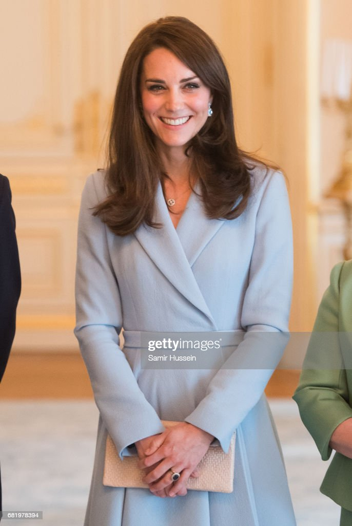 Catherine, Duchess of Cambridge poses during a visit to the Grand Ducal Palace where she met with the Luxembourg Royal Family on May 11, 2017 in Luxembourg. The Duchess is participating in the official commemoration of the 1867 Treaty of London and will attend a series of engagements to celebrate the cultural and historic ties between the UK and Luxembourg.