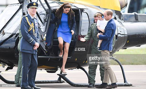 Catherine Duchess of Cambridge Prince George of Cambridge and Prince William Duke of Cambridge attend the The Royal International Air Tattoo at RAF...
