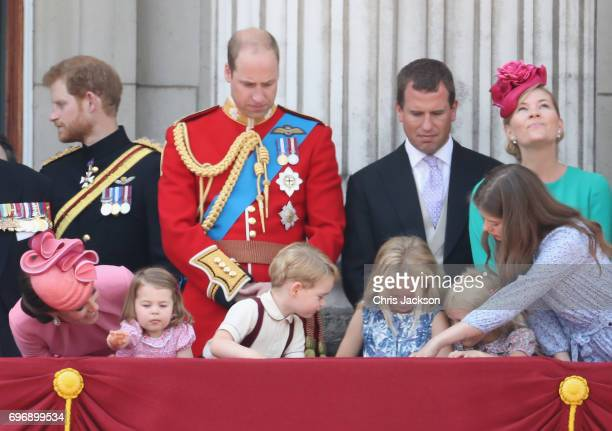 Catherine Duchess of Cambridge Prince Harry Princess Charlotte of Cambridge Prince William Duke of Cambridge Prince George of Cambridge Peter...