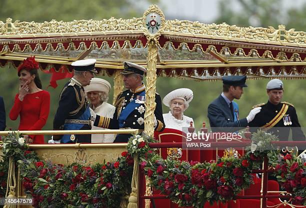 Catherine, Duchess of Cambridge, Prince Philip, The Duke of Edinburgh, Camilla, Duchess of Cornwall, Prince Charles, Prince of Wales, Queen Elizabeth...