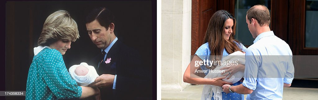 The Duke And Duchess of Cambridge Leave The Lindo Wing With Their Newborn Son : News Photo