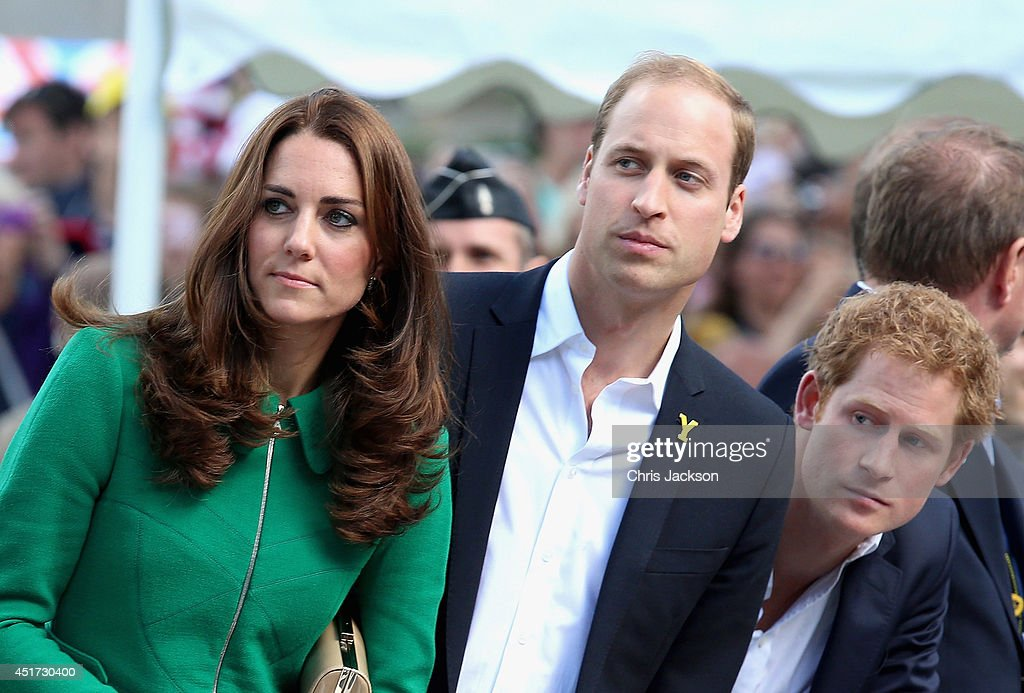 The Duke & Duchess of Cambridge And Prince Harry Attend The Tour De France Grand Depart : ニュース写真