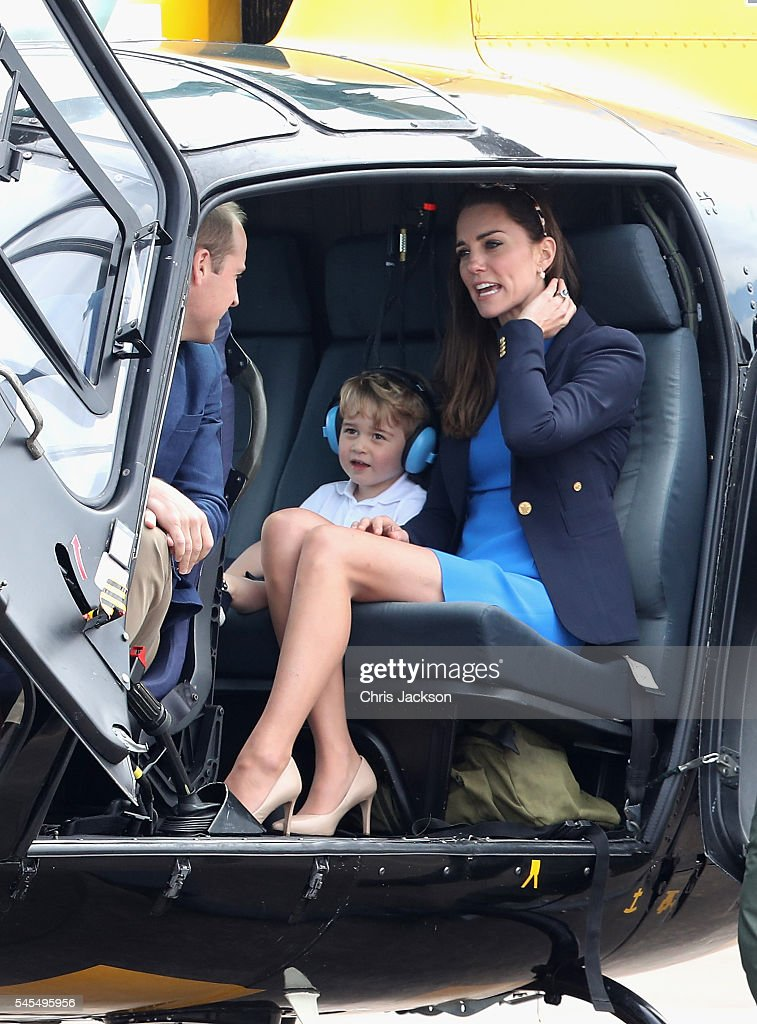 The Duke And Duchess Of Cambridge Visit The Royal International Air Tattoo : News Photo