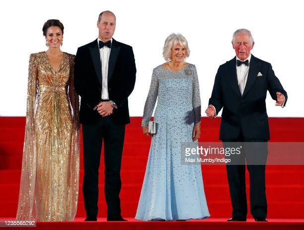 """Catherine, Duchess of Cambridge, Prince William, Duke of Cambridge, Camilla, Duchess of Cornwall and Prince Charles, Prince of Wales attend the """"No..."""