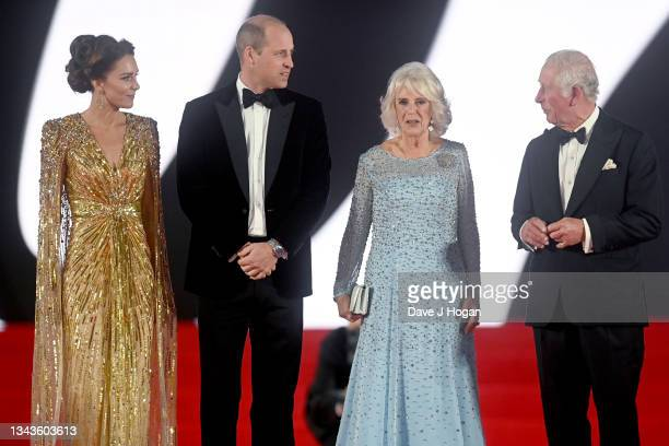 """Catherine, Duchess of Cambridge, Prince William, Duke of Cambridge, Camilla, Duchess of Cornwall, and Prince Charles, Prince of Wales attend the """"No..."""