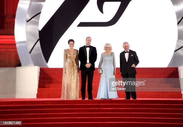 Catherine, Duchess of Cambridge, Prince William, Duke of Cambridge, Camilla, Duchess of Cornwall and Prince Charles, Prince of Wales at the World...