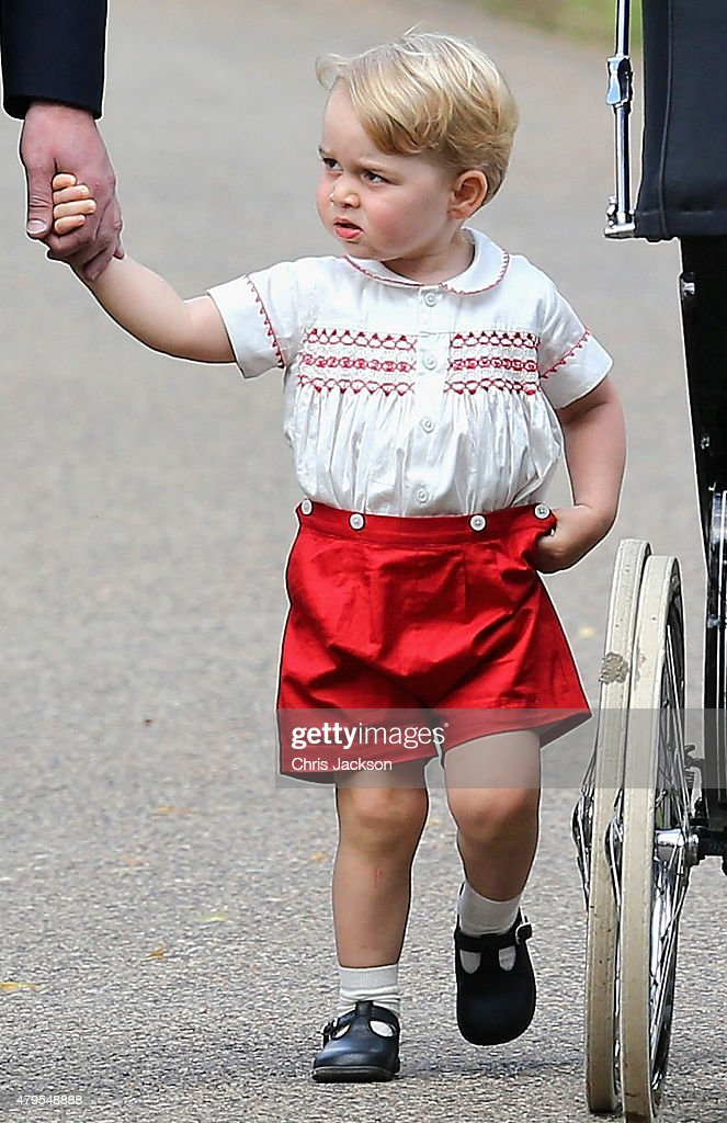 The Christening Of Princess Charlotte Of Cambridge : ニュース写真