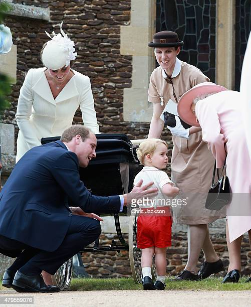 Catherine Duchess of Cambridge Prince William Duke of Cambridge Princess Charlotte of Cambridge and Prince George of Cambridge Queen Elizabeth II and...