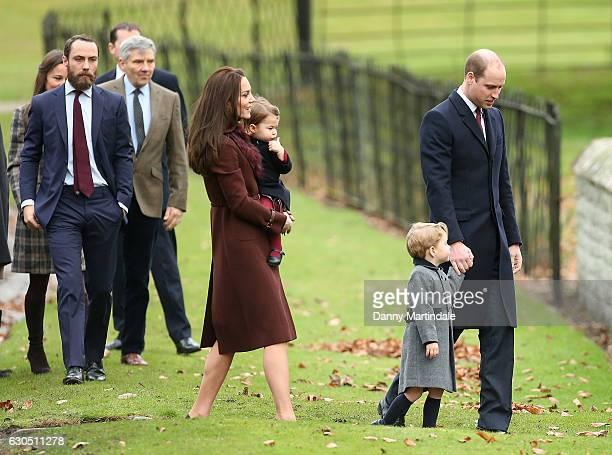 Catherine Duchess of Cambridge Prince William Duke of Cambridge Prince George of Cambridge Princess Charlotte of Cambridge Michael Middleton James...
