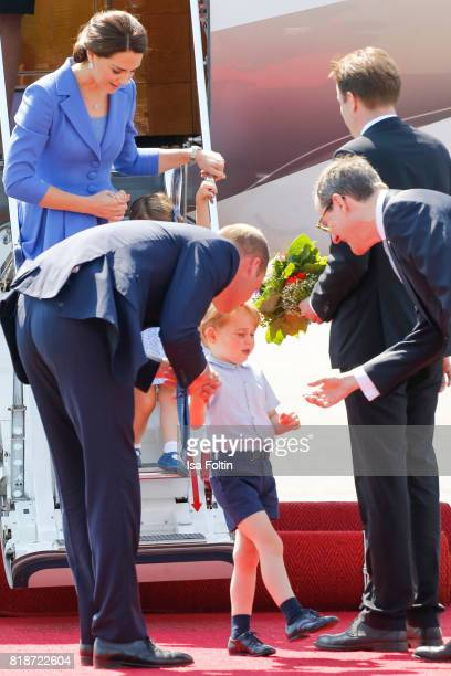 Catherine Duchess of Cambridge Prince William Duke of Cambridge Princess Charlotte of Cambridge Prince George of Cambridge and Sir Sebastian Wood...