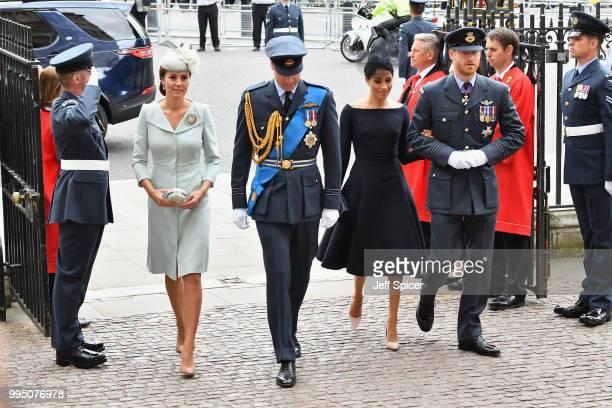 Catherine Duchess of Cambridge Prince William Duke of Cambridge Meghan Duchess of Sussex and Prince Harry Duke of Sussex attend as members of the...