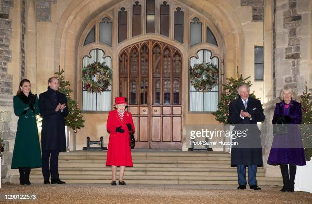 Catherine, Duchess of Cambridge, Prince William, Duke of Cambridge, Queen Elizabeth II, Prince Charles, Prince of Wales and Camilla, Duchess of...