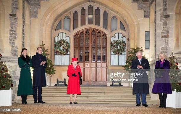 Catherine, Duchess of Cambridge, Prince William, Duke of Cambridge, Queen Elizabeth II, Prince Charles, Prince of Wales, Camilla, Duchess of Cornwall...