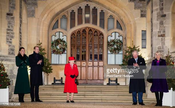 Catherine, Duchess of Cambridge, Prince William, Duke of Cambridge, Queen Elizabeth II, Prince Charles, Prince of Wales, Camilla, Duchess of Cornwall...