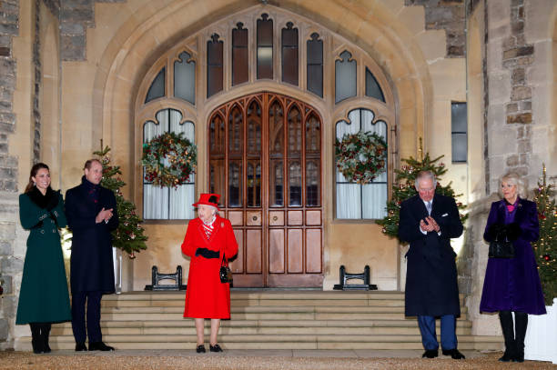 GBR: Members Of The Royal Family Thank Volunteers And Key Workers At Windsor Castle
