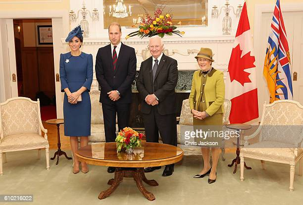 Catherine, Duchess of Cambridge, Prince William, Duke of Cambridge with David Johnston, Governor General of Canada and his wife Sharon Johnston at...