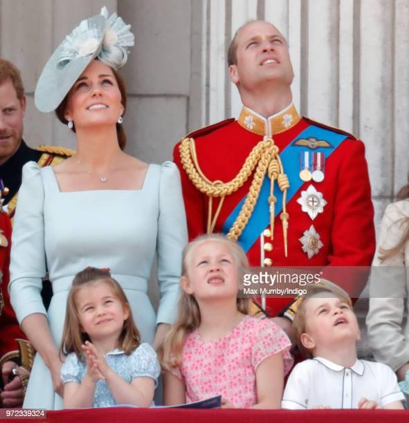 Catherine Duchess of Cambridge Princess Charlotte of Cambridge Savannah Phillips Prince William Duke of Cambridge and Prince George of Cambridge...
