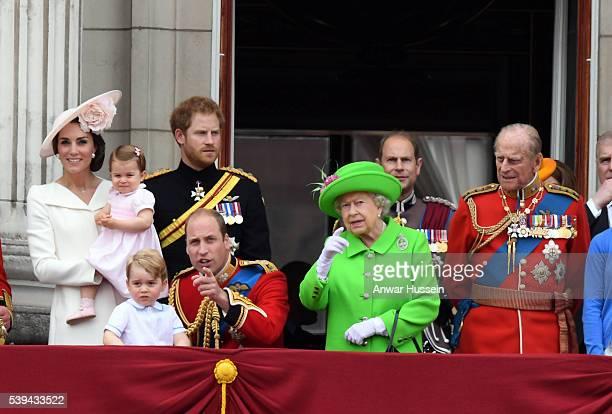 Catherine, Duchess of Cambridge, Princess Charlotte of Cambridge, Prince George, Prince William, Duke of Cambridge, Prince Harry, Queen Elizabeth ll,...