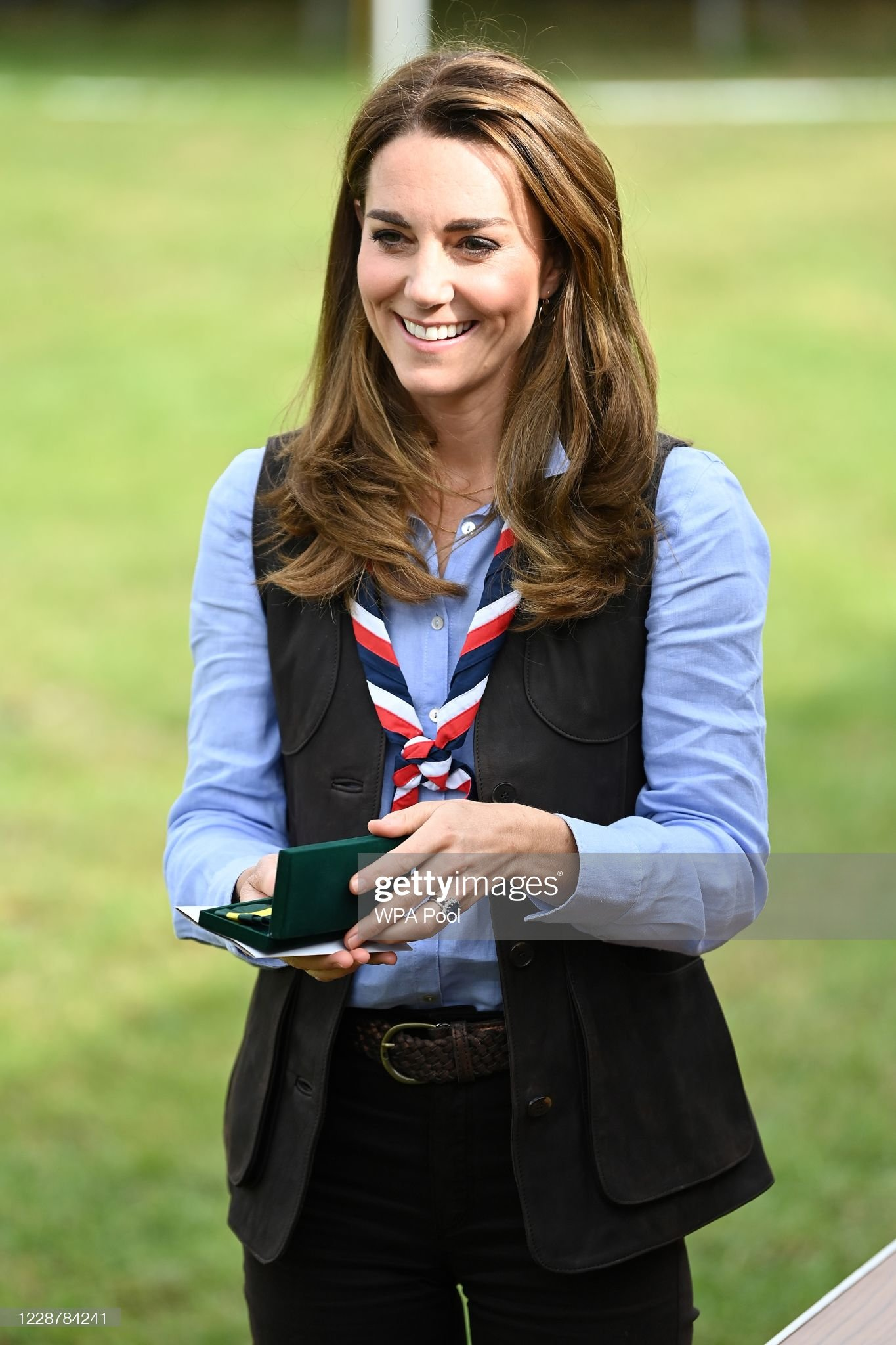 The Duchess Of Cambridge Visits Scouts Group : News Photo