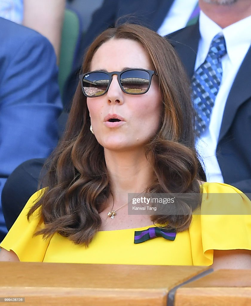 Celebrities Attend Wimbledon : News Photo