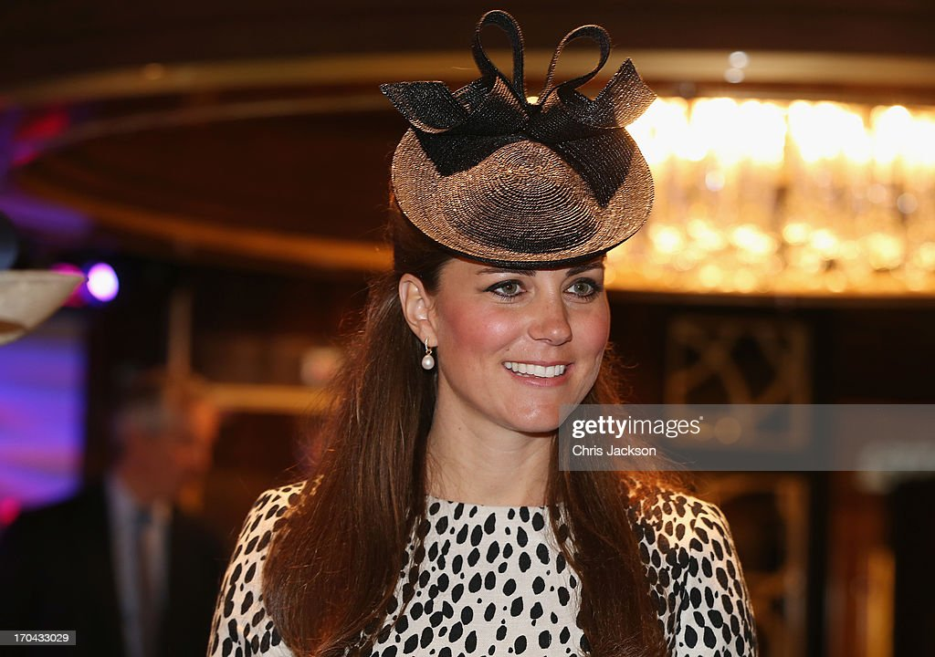 Catherine, Duchess of Cambridge receives a tour on board after the Princess Cruises ship naming ceremony at Ocean Terminal on June 13, 2013 in Southampton, England.
