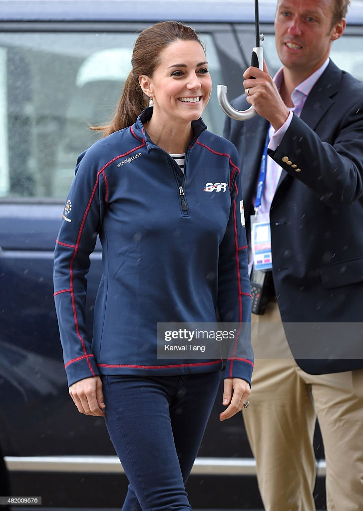 Catherine, Duchess of Cambridge, Royal Patron of the 1851 Trust attends the America's Cup World Series on July 26, 2015 in Portsmouth, England.