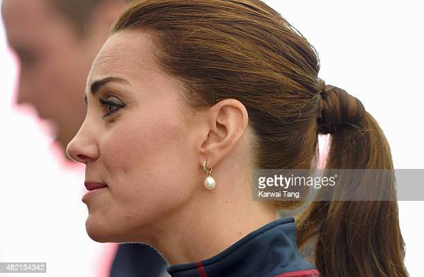 Catherine Duchess of Cambridge Royal Patron of the 1851 Trust attends the America's Cup World Series on July 26 2015 in Portsmouth England