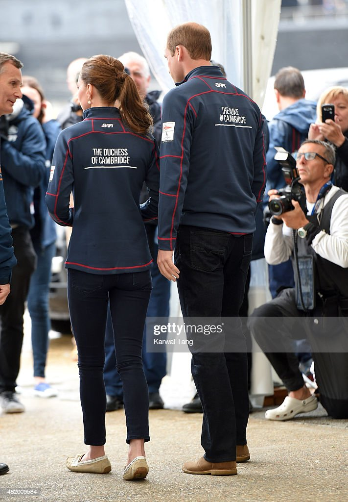 The Duke And Duchess Of Cambridge Attend The America's Cup World Series : ニュース写真