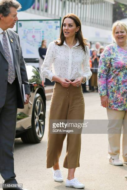 Catherine, Duchess of Cambridge seen arriving at her 'Back to Nature' garden at the Chelsea Flower Show. The Royal Horticultural Society Chelsea...