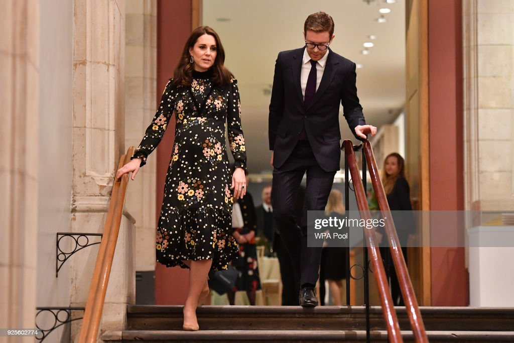 The Duchess Of Cambridge Visits 'Victorian Giants' Exhibition : News Photo