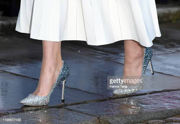 Catherine Duchess of Cambridge shoe detail attends the first annual gala dinner in recognition of Addiction Awareness Week at Phillips Gallery on...