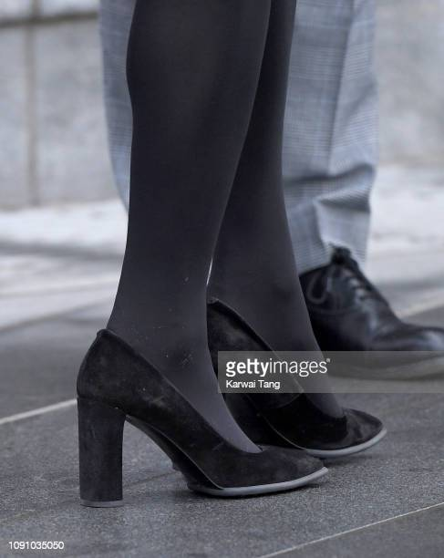 Catherine Duchess Of Cambridge shoe detail officially opens VA Dundee and greet members of the public on the waterfront on January 29 2019 in Dundee...