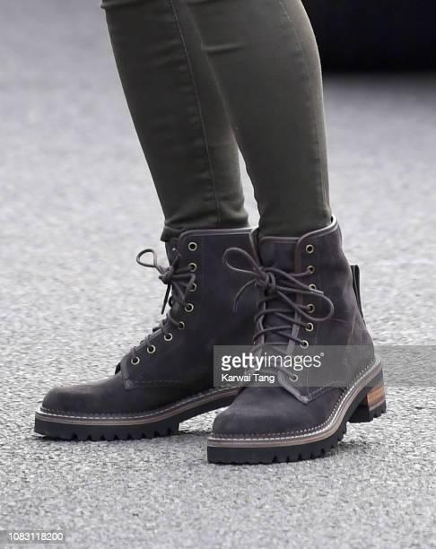 Catherine Duchess of Cambridge shoe detail visits King Henry's Walk Garden on January 15 2019 in London United Kingdom