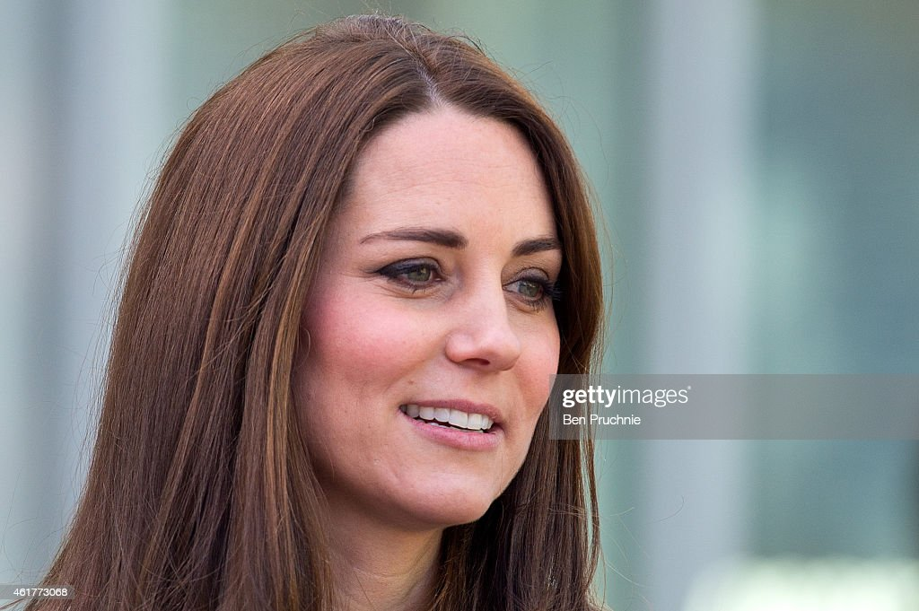 Catherine, Duchess Of Cambridge sighted departing the Kensington Leisure Center on January 19, 2015 in London, England.