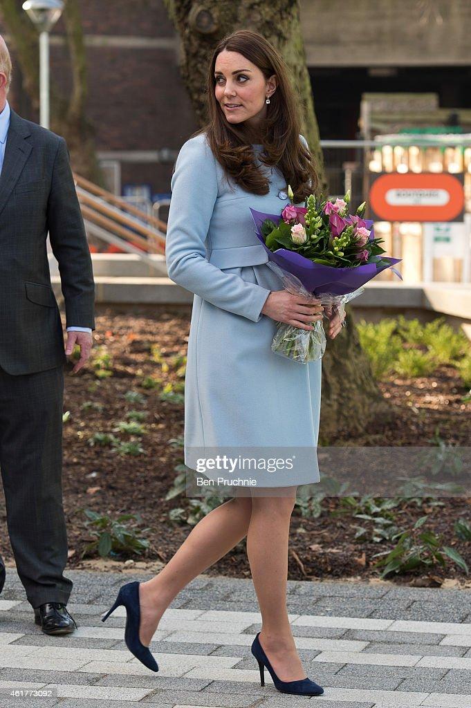 The Duchess Of Cambridge Opens The Kensington Leisure Centre And Aldridge Academy : News Photo