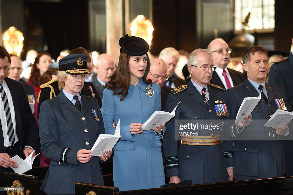 Duchess Of Cambridge Marks 75th Anniversary of RAF Air Cadets : News Photo