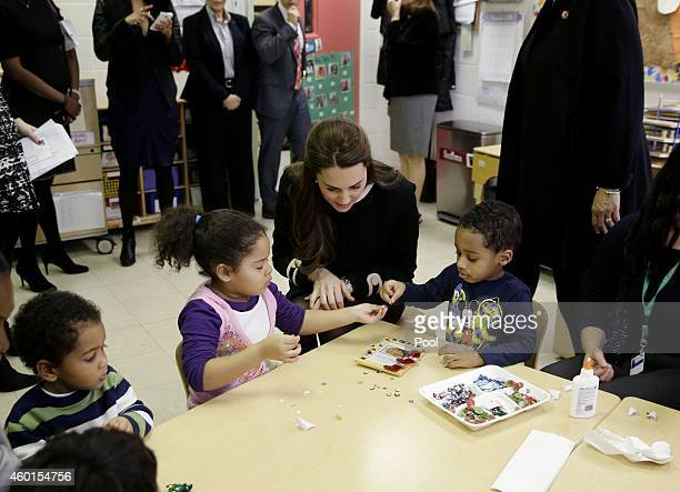 Catherine Ss Of Cambridge Sits Next To April Left And Sammy In A Preschool Cl As