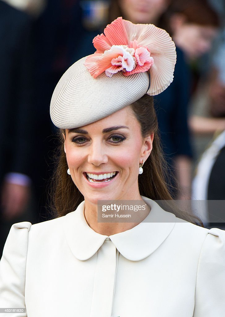 Catherine, Duchess of Cambridge smiles as she attends a reception at the Grand Place on August 4, 2014 in Mons, Belgium. Monday 4th August marks the 100th Anniversary of Great Britain declaring war on Germany. In 1914 British Prime Minister Herbert Asquith announced at 11pm that Britain was to enter the war after Germany had violated Belgium's neutrality. The First World War or the Great War lasted until 11 November 1918 and is recognised as one of the deadliest historical conflicts with millions of casualties. A series of events commemorating the 100th Anniversary are taking place throughout the day.