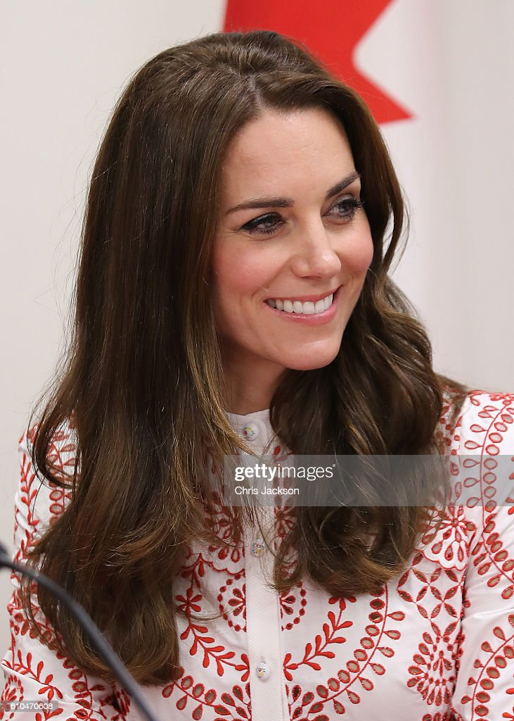 Catherine, Duchess of Cambridge smiles as she visits the Canadian Coast Guard and Vancouver First Responders Event at Kitsilano Coastguard Station on September 25, 2016 in Vancouver, Canada. Prince William, Duke of Cambridge, Catherine, Duchess of Cambridge, Prince George and Princess Charlotte are visiting Canada as part of an eight day visit to the country taking in areas such as Bella Bella, Whitehorse and Kelowna