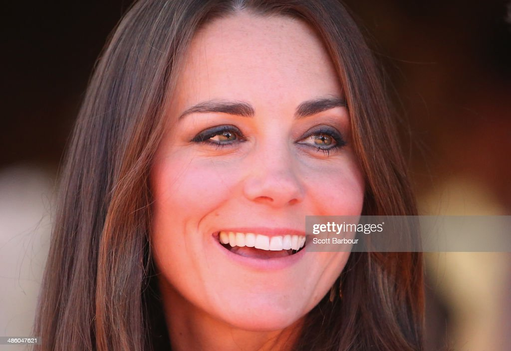Catherine, Duchess of Cambridge smiles at the National Indigenous Training Academy on April 22, 2014 in Ayers Rock, Australia. The Duke and Duchess of Cambridge are on a three-week tour of Australia and New Zealand, the first official trip overseas with their son, Prince George of Cambridge.